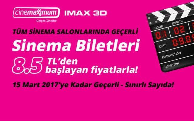 31 Aralık 2016'ya Kadar Geçerli Sinema Biletleri - Sınırlı Sayıda!